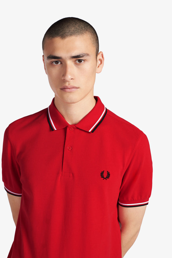 Fred Perry Polo Jester Red / White / Black