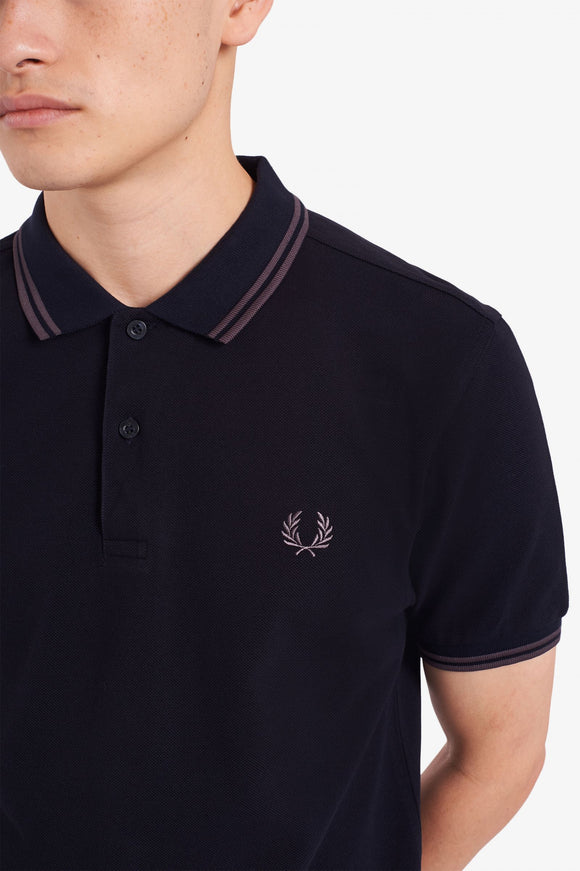 Fred Perry Twin Tipped Polo Navy / Gunmetal