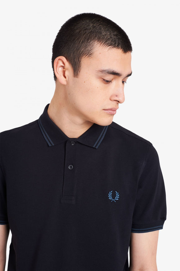 Fred Perry Twin Tipped Polo Black / Petrol