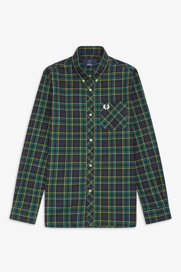 Fred Perry Green Tartan Long Sleeve