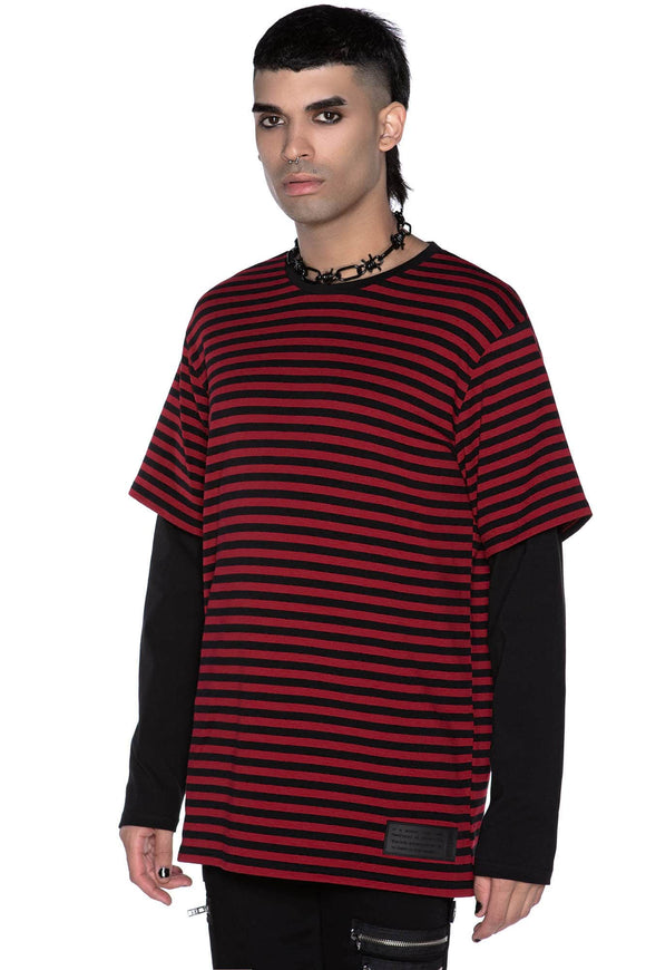 Maxen Blood Red Long Sleeve Shirt (Unisex)