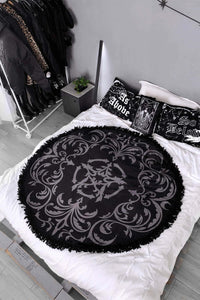 Morticia Damask Blanket