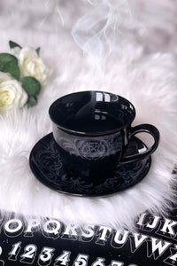 Morticia XL Tea Cup & Saucer