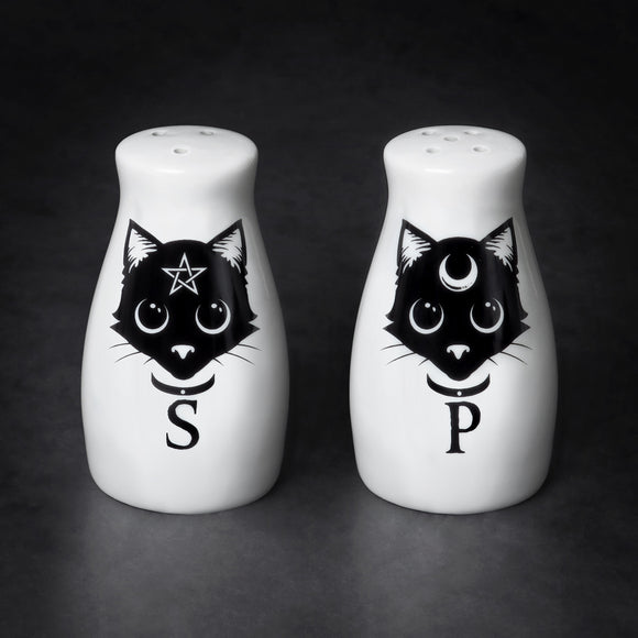 Black Cats Salt & Pepper Shaker Set