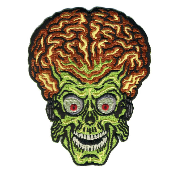Mars Attacks Alien Head Patch - DeadRockers