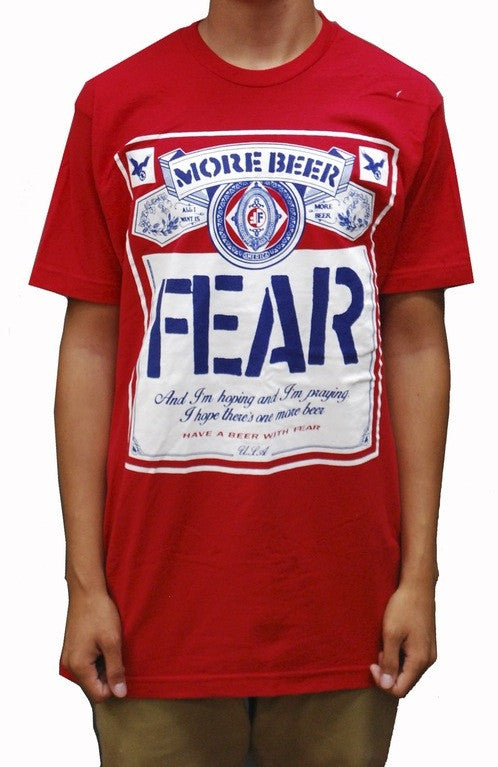Fear More Beer Can Shirt