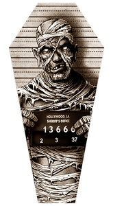 Mummy Mugshot Coffin Stretched Canvas - DeadRockers