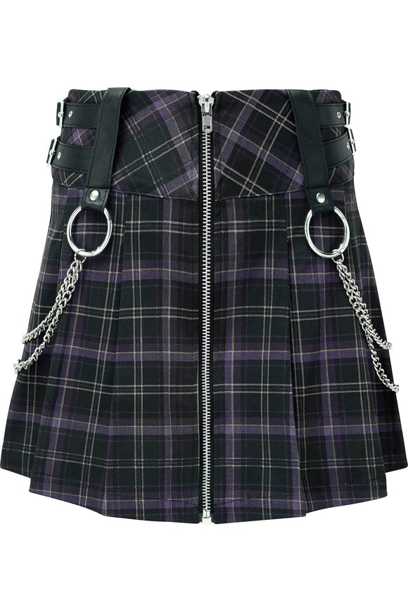 Plaid Pleated Nancy Skirt