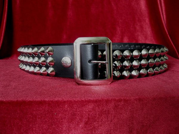 Cone Stud 3 Row Belt - DeadRockers