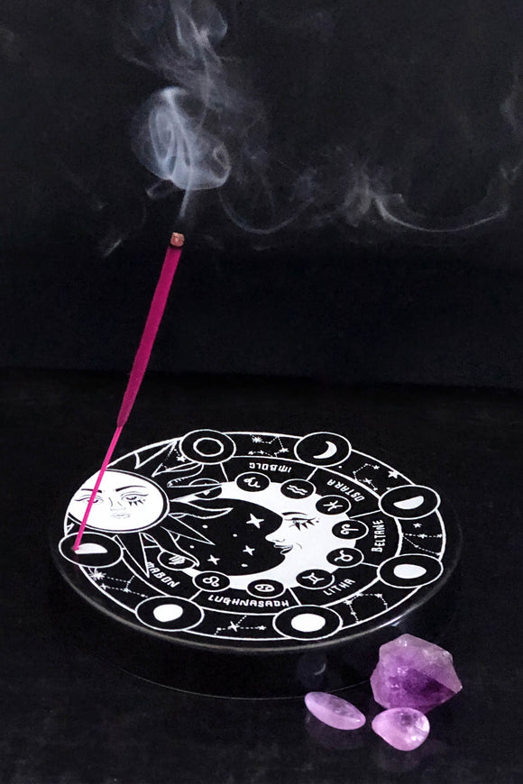 Pagan Moon Incense Holder