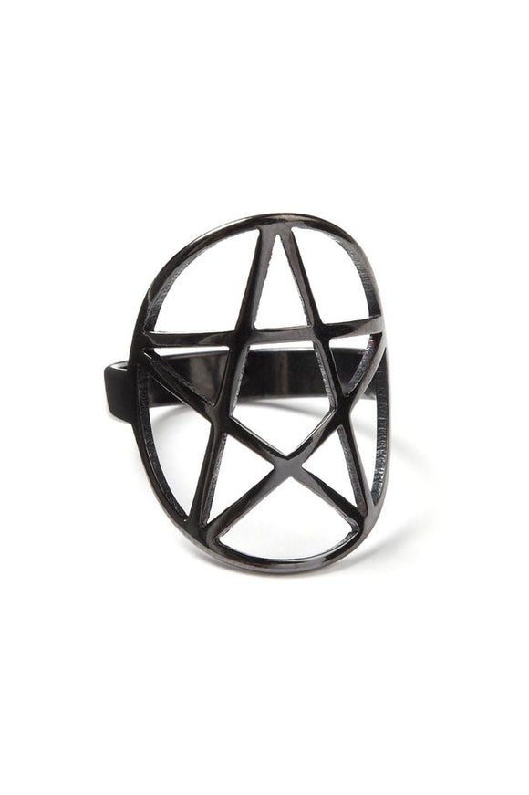 Black Pentagram Ring
