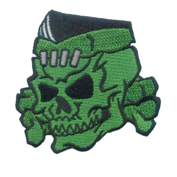 Psycho Stitched Skull Patch - DeadRockers