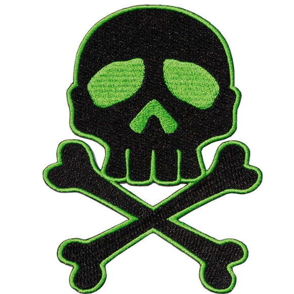 Skull Cross Bones Green Patch - DeadRockers