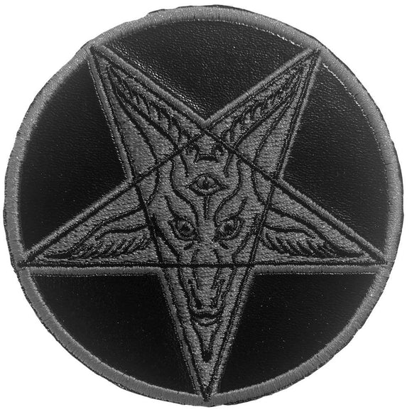 Satanic Circle Shiny Black Patch