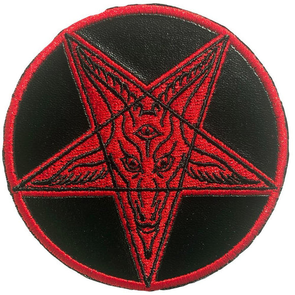 Satanic Circle Shiny Red Patch