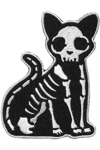 Skeleton Cat Purr Bones Patch