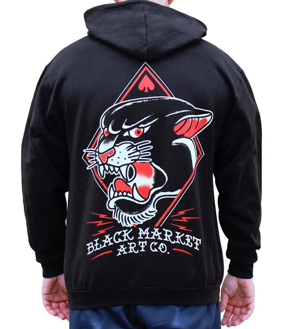 Tattoo Flash Panther Hoodie