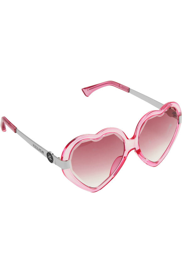 Pink Heart Quinn Sunglasses