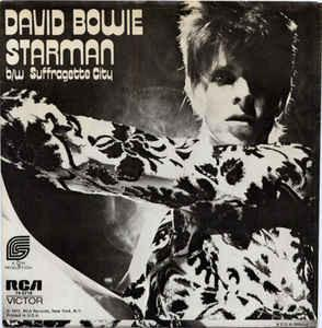 David Bowie - Starman b/w Suffragette City 7""