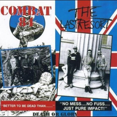 Combat 84 / The Last Resort - Death of Glory Split LP - DeadRockers