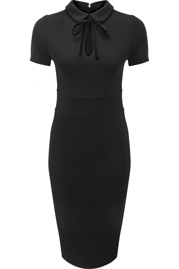 Black Rebekka Read Midi Dress