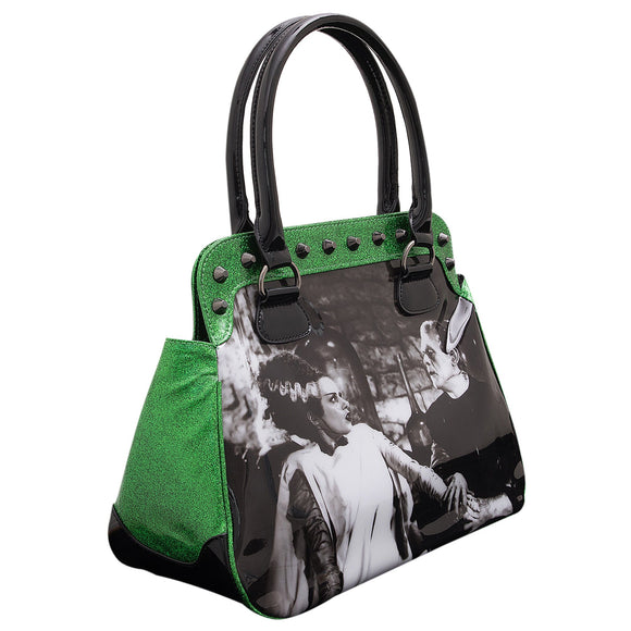 We Belong Dead Green Glitter Handbag