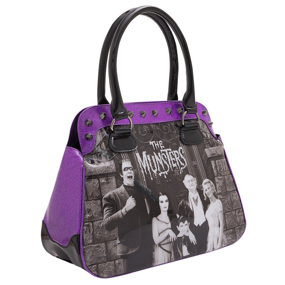 Munsters Purple Glitter Handbag