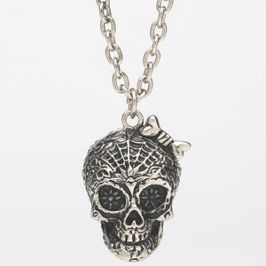 Sugar Skull Stash Pendant Necklace