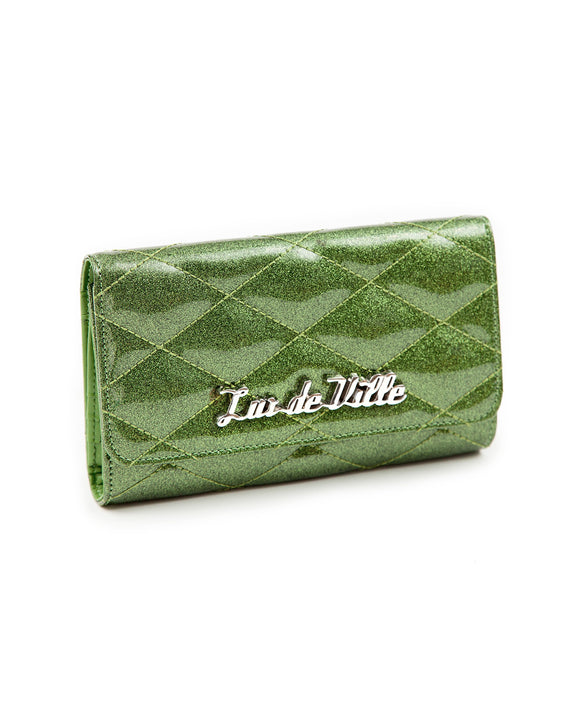 Green Martini Sparkle Route 66 Wallet