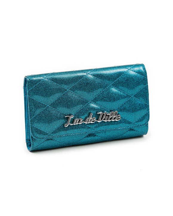 Blue Sea Sparkle Route 66 Wallet