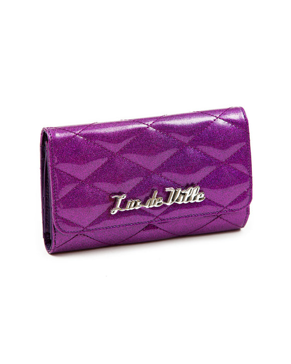 Electric Purple Sparkle Route 66 Wallet
