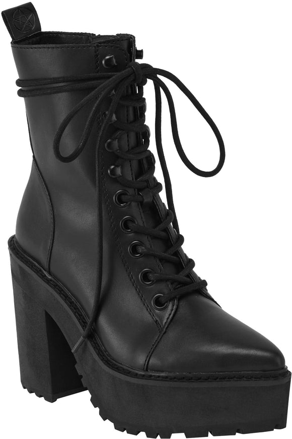 Salem City Black Witch Boots
