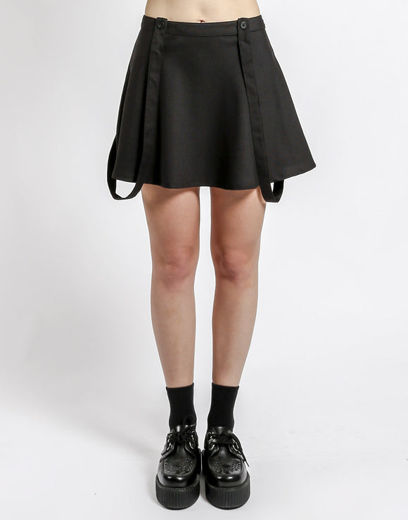 Black Suspender Skirt