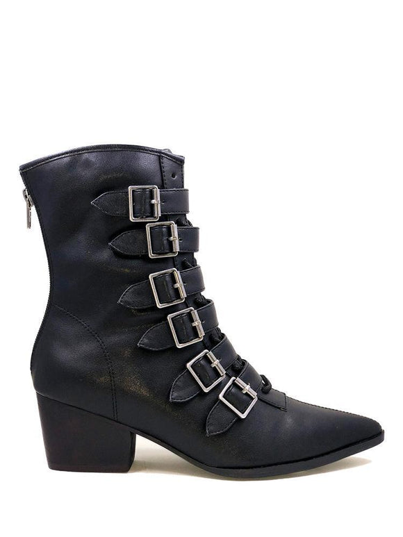 Black Coven Buckle Boot