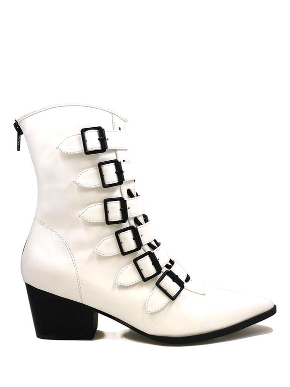 White Coven Buckle Boot