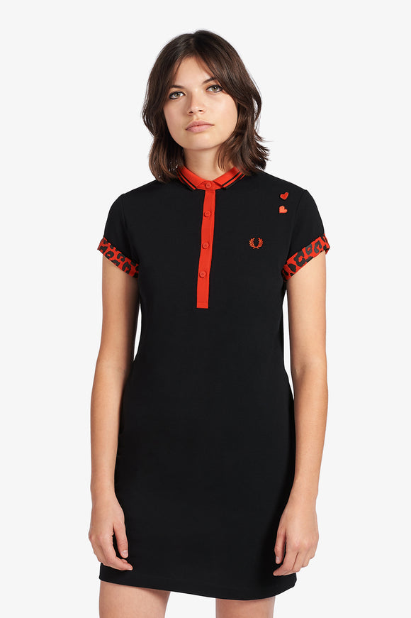 Fred Perry Amy Winehouse Red Leopard Polo Dress - Limited Edition