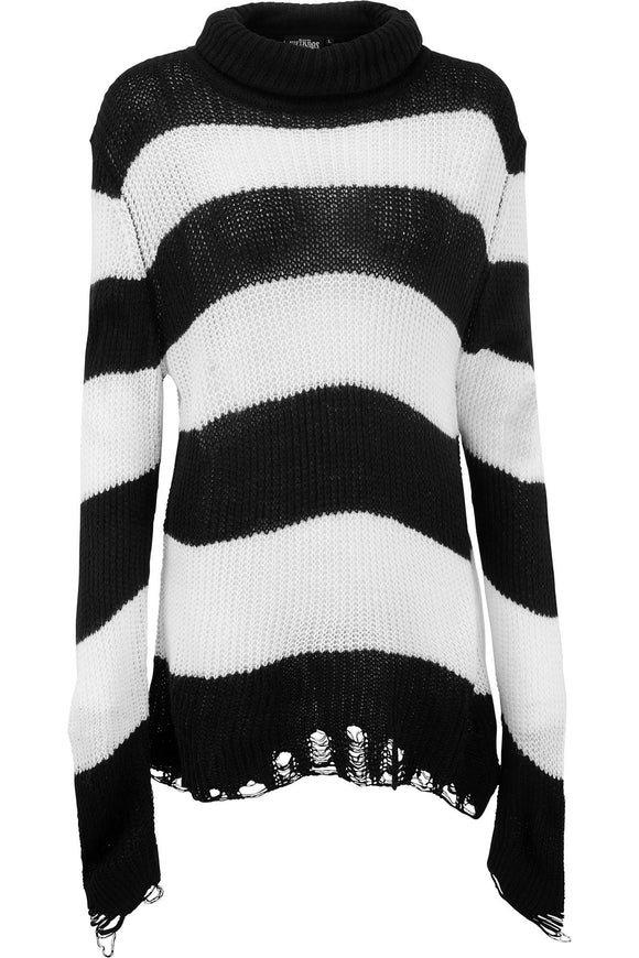Unisex Black & White Seven Knit Sweater