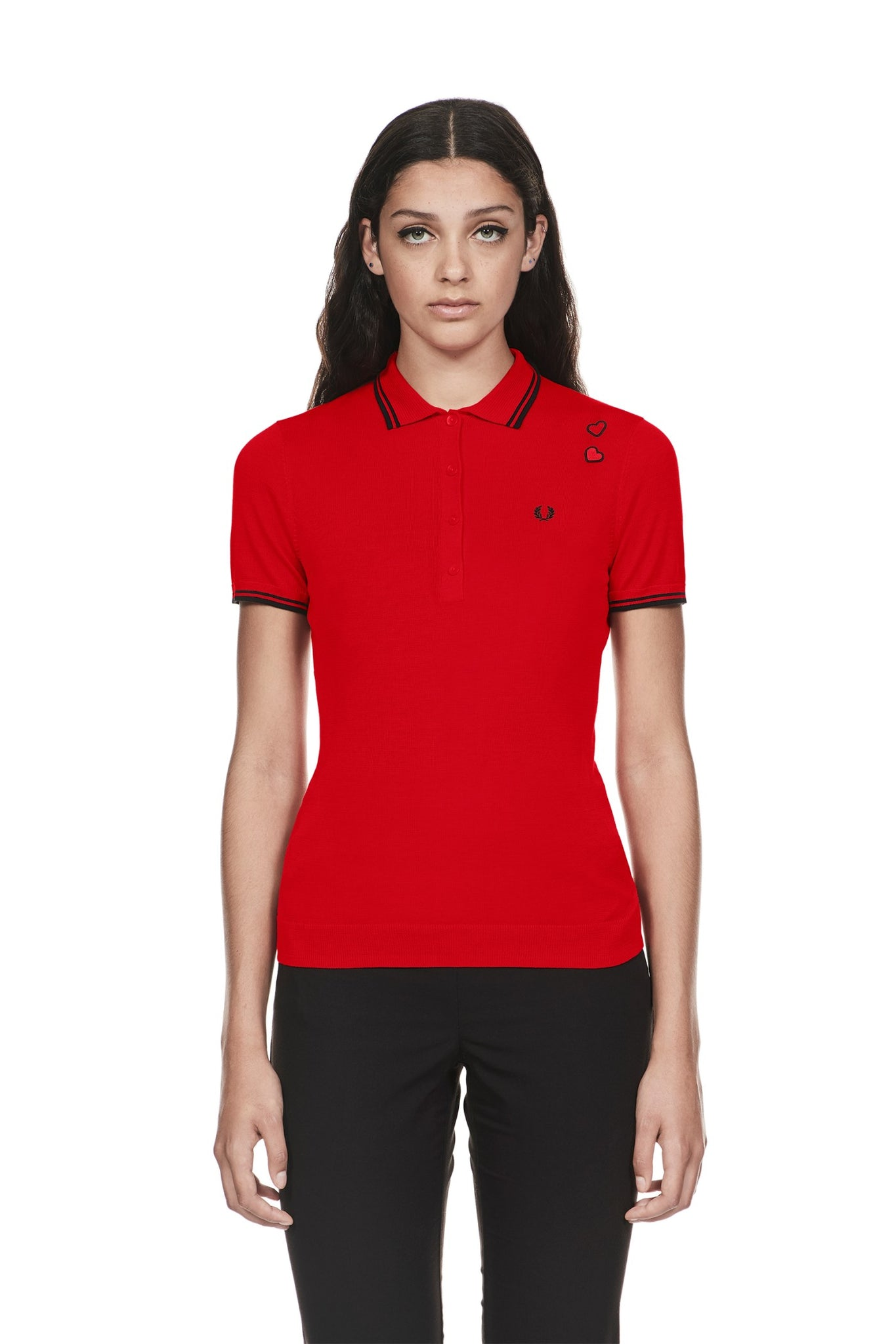 83f48769 Fred Perry Amy Winehouse Polo Lipstick Red – DeadRockers