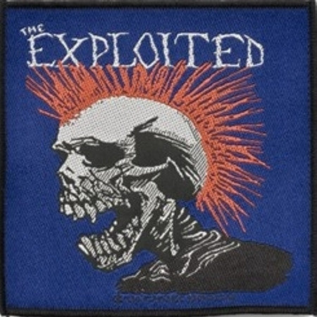 Exploited Skull Woven Patch - DeadRockers