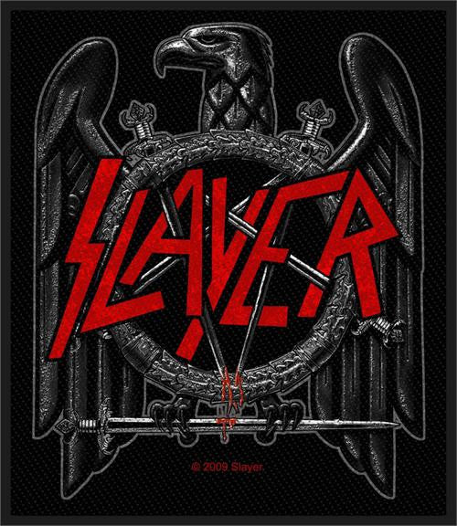 Slayer Black Eagle Woven Patch