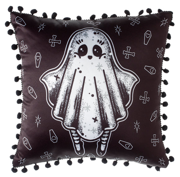 Ghost Creep Heart Pillow