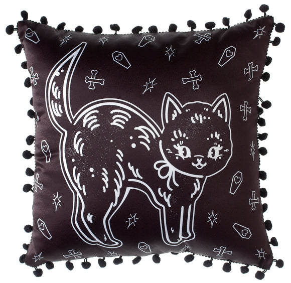Cat Creep Heart Pillow