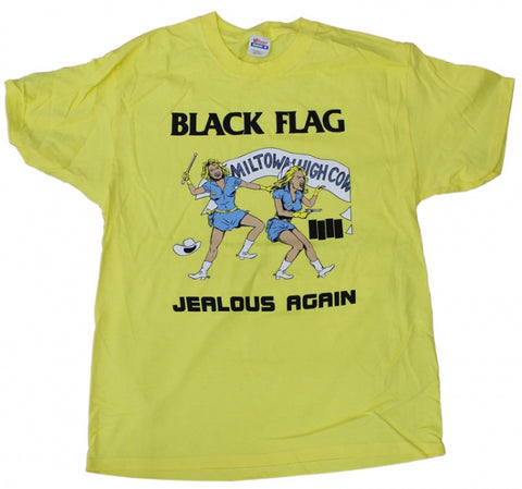 Black Flag Jealous Again Yellow Tee