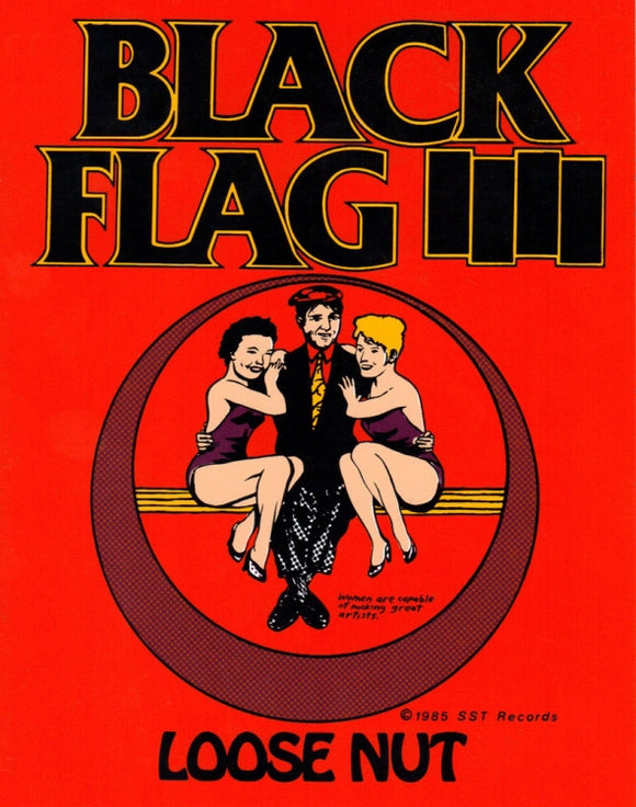 Black Flag Loose Nut Sticker