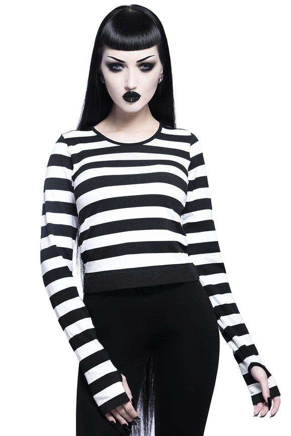 Black & White Striped Stacey Layering Top