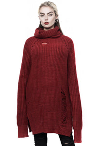 Blood Red Sweet Sixx Knit Sweater