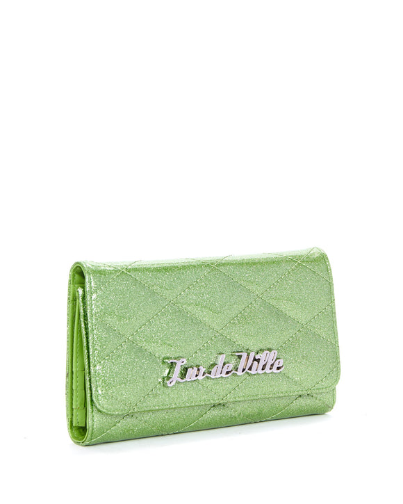 Green Sparkle Route 66 Wallet