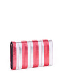 Silver & Red Metallic Striped Bad Reputation Wallet