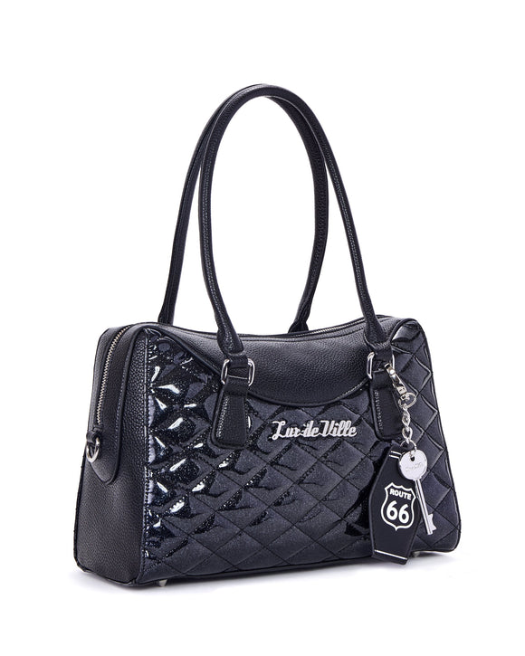 Route 66 Black Sparkle Tote