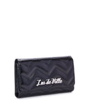 Shiny Black Chevron Quilted Wallet